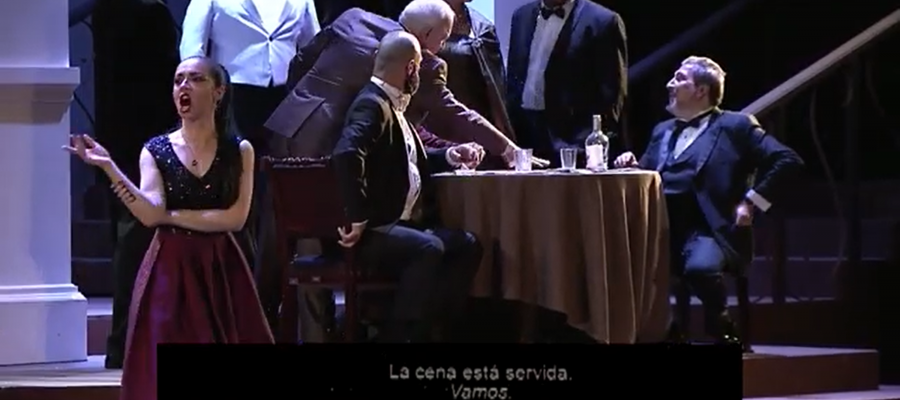La Traviata, production of Jose Dario Innella's for Opera de Costa Rica in streaming