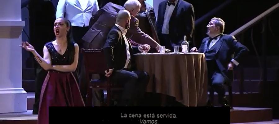 La Traviata, production of Jose Dario Innella's for Opera de Costa Rica in streaming
